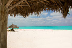 Spiaggia tropicale non rovinata Fotografia Stock
