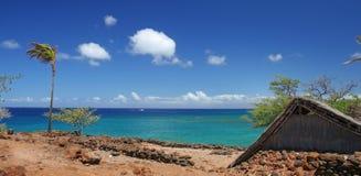 Spiaggia tropicale scenica Immagini Stock