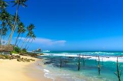 Spiaggia tropicale in Sri Lanka Fotografia Stock