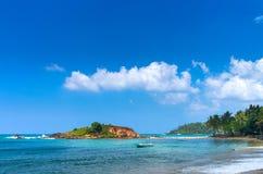 Spiaggia tropicale in Sri Lanka Fotografie Stock