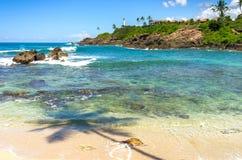 Spiaggia tropicale in Sri Lanka Immagini Stock
