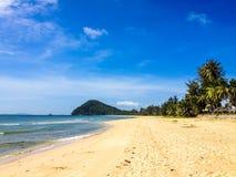 Spiaggia tropicale, Thung Wua Laen fotografia stock libera da diritti