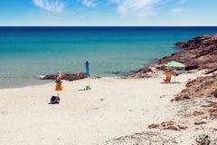 Spiaggia tropicale vuota fotografia stock