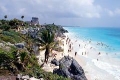 Spiaggia a Tulum Fotografia Stock Libera da Diritti