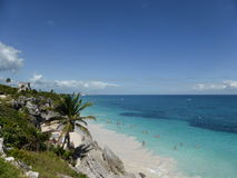 Spiaggia tulum Immagini Stock