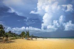 Spiaggia in Tulum Immagini Stock
