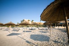 Spiaggia in Tunisia Fotografia Stock Libera da Diritti