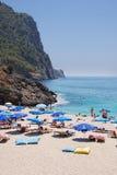 Spiaggia in Turchia Immagine Stock