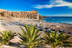 Spiaggia in un piccolo villaggio Callao Salvaje Immagini Stock Libere da Diritti