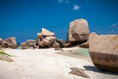 Spiaggia unica di Anse Marron Fotografie Stock Libere da Diritti