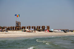 Spiaggia in Vadu Fotografia Stock Libera da Diritti