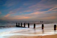Spiaggia vaga di Southwold fotografia stock libera da diritti