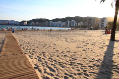 Spiaggia Valencia Spagna di Cullera Fotografie Stock