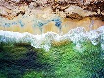 Spiaggia variopinta in Norvegia del sud immagine stock libera da diritti