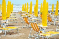 Spiaggia veneziana vuota Fotografie Stock Libere da Diritti