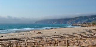 Spiaggia ventosa Fotografia Stock