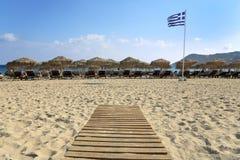 Spiaggia verde oliva Fotografie Stock Libere da Diritti