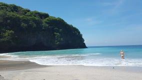 Spiaggia vergine Bali Immagine Stock