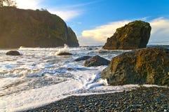 Spiaggia vermiglia Immagini Stock Libere da Diritti