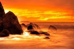 Spiaggia vermiglia Fotografia Stock