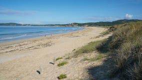 Spiaggia vicino al boschetto della O, Galizia, Spagna Fotografie Stock Libere da Diritti