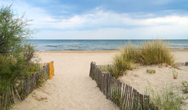 Spiaggia vicino a Montpellier (Francia) fotografia stock libera da diritti