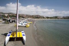 Spiaggia vicino a Pafo Cipro Fotografia Stock