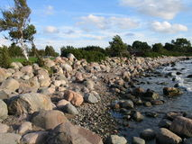 Spiaggia vicino a Tallinn, Estonia immagine stock libera da diritti