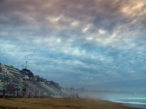 Spiaggia a Vina del Mar Fotografie Stock Libere da Diritti