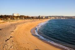 Spiaggia a Vina del Mar, Cile Immagini Stock Libere da Diritti