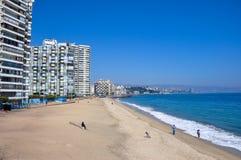 Spiaggia a Vina del Mar, Cile Fotografia Stock Libera da Diritti
