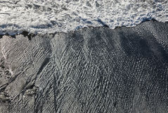 Spiaggia vulcanica Immagini Stock
