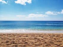 Spiaggia vulcanica dell'Hawai Fotografia Stock Libera da Diritti