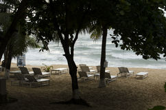 Spiaggia vulcanica dell'Hawai Fotografie Stock Libere da Diritti