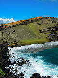 Spiaggia vulcanica Hawai della sabbia verde Immagine Stock Libera da Diritti