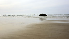 Spiaggia vuota a bassa marea Fotografia Stock
