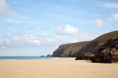 Spiaggia vuota con lo spazio del testo. Fotografia Stock Libera da Diritti