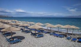 Spiaggia vuota di Xylokastro fotografia stock
