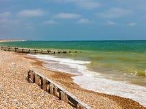 Spiaggia West Sussex Inghilterra di Climping fotografie stock