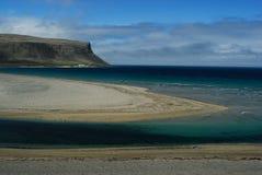 Spiaggia in Westfjord, Islanda Fotografie Stock Libere da Diritti