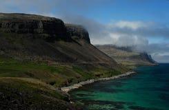 Spiaggia in Westfjord, Islanda Fotografie Stock