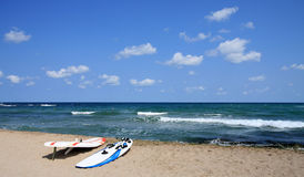 Spiaggia Windsurfing. Fotografia Stock