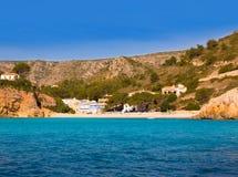 Spiaggia Xabia di Javea Cala Granadella in Alicante Spagna Immagine Stock