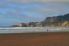 Spiaggia in Yachats Immagini Stock