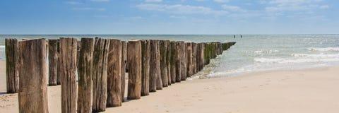 Spiaggia, Zelandia Fotografia Stock Libera da Diritti