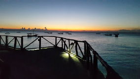 Spiaggia Zimmie di Nungwe Immagine Stock