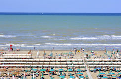 Spiaggie e mare di Riccione royalty free stock photography