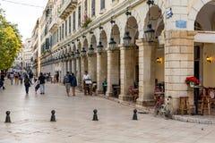 Spianada kwadrat, Corfu, Grecja Zdjęcie Stock