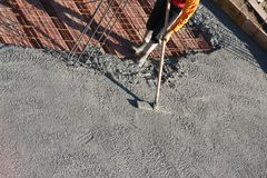 Spianatura del cemento Immagini Stock Libere da Diritti