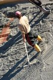 Spianatura della pausa del cemento Fotografie Stock Libere da Diritti